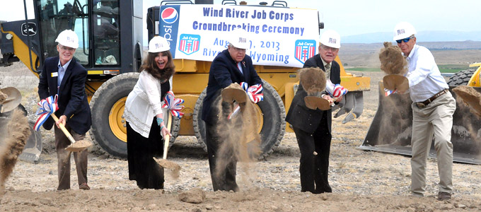 Groundbreaking for Wind River Job Corps Center Friday in Riverton; Enzi said employers are ready to hire