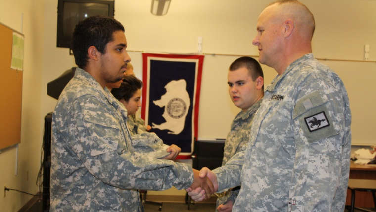 Brigadier General toured local Military Science classes today at Riverton, Lander and Pavillion.