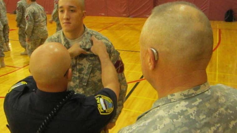 RHS Military Science students honored during Brigadier General's visit last week